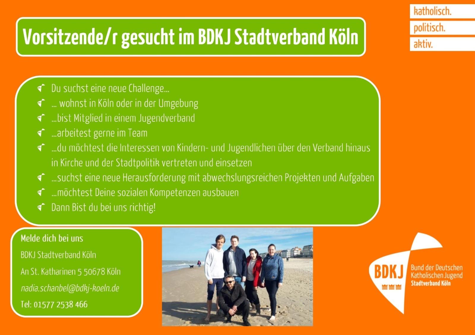 BDKJ Köln   Vorsitzende*r gesucht im BDKJ Stadtverband Köln